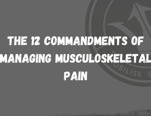 12 Commandments of Managing Musculoskeletal Pain
